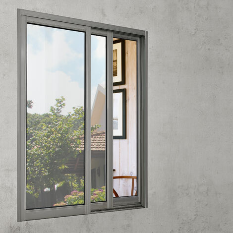 [casa.pro] Lámina para ventana adhesiva plata / efecto espejo (100cm x 50cm) espátula /raspador incluido película protectora
