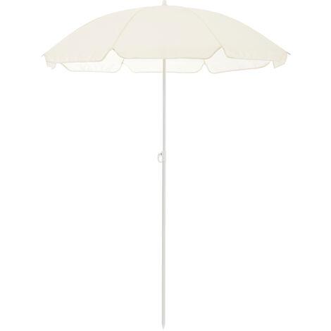 /® Ombrellone Moderno Parasole Protezione Color Crema /Ø x A 140 x 164 m casa.pro