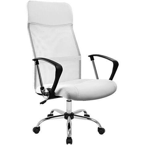 Casaria Bürostuhl Chefsessel »Deluxe« Wippfunktion höhenverstellbar ergonomisch 360° drehbar mit Netzbezug Stoff Drehstuhl Schreibtischstuhl