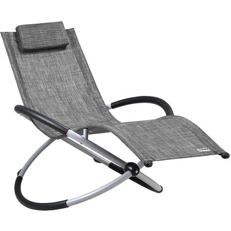 Casaria Gravity Sun Lounger Ergonomic Folding Swinging Chair