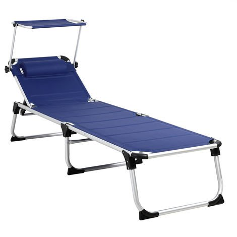 Casaria Sun Lounger Bari Padded Folding 210cm Garden Patio Luxury Aluminium