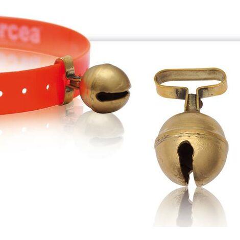 Cascabel de latón, sonido claro y audible a gran distancia, disponible en diferentes diámetros