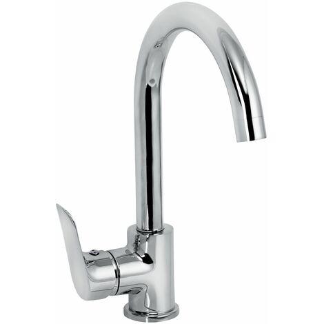 "main image of ""Cascade Cadence Kitchen Sink Mono Mixer Tap Chrome Single Lever Modern Stylish"""