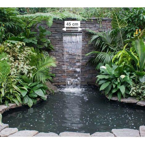 Cascade - Lame D'Eau 45 cm Inox Pour Bassin De Jardin Ou Piscine