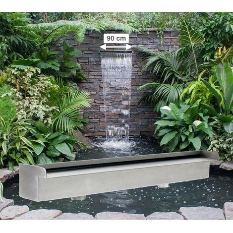 Cascade - Lame D'Eau 90 cm Inox Pour Bassin De Jardin