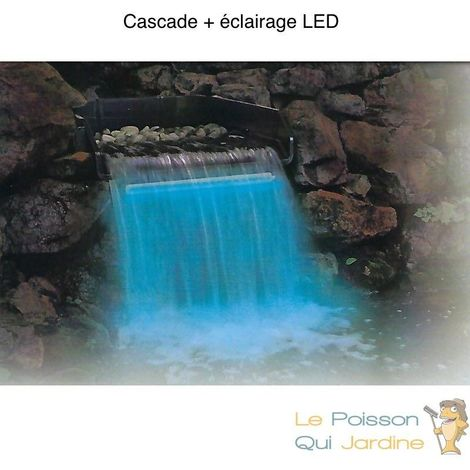 Cascade + LED 30 cm pour votre bassin de jardin