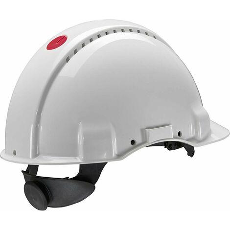 Casco con arnés de ruleta y banda sudor plástico G3000 (20 cascos)