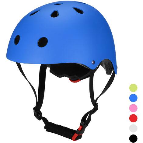 Casco de bicicleta Casco de seguridad multideportivo para ninos / adolescentes / adultos Patinaje en bicicleta Patinaje en monopatin, azul, L (58 - 61cm)