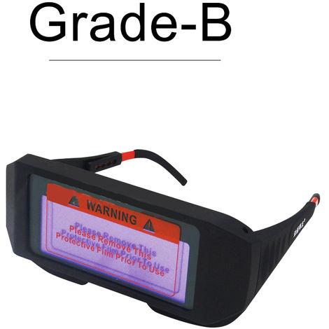Casco de mascara de gafas de soldadura de oscurecimiento automatico solar, B
