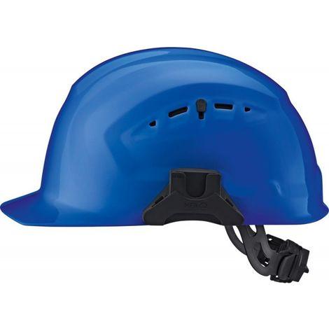 Casco de obra CrossGuard con rueda de ajuste, azul