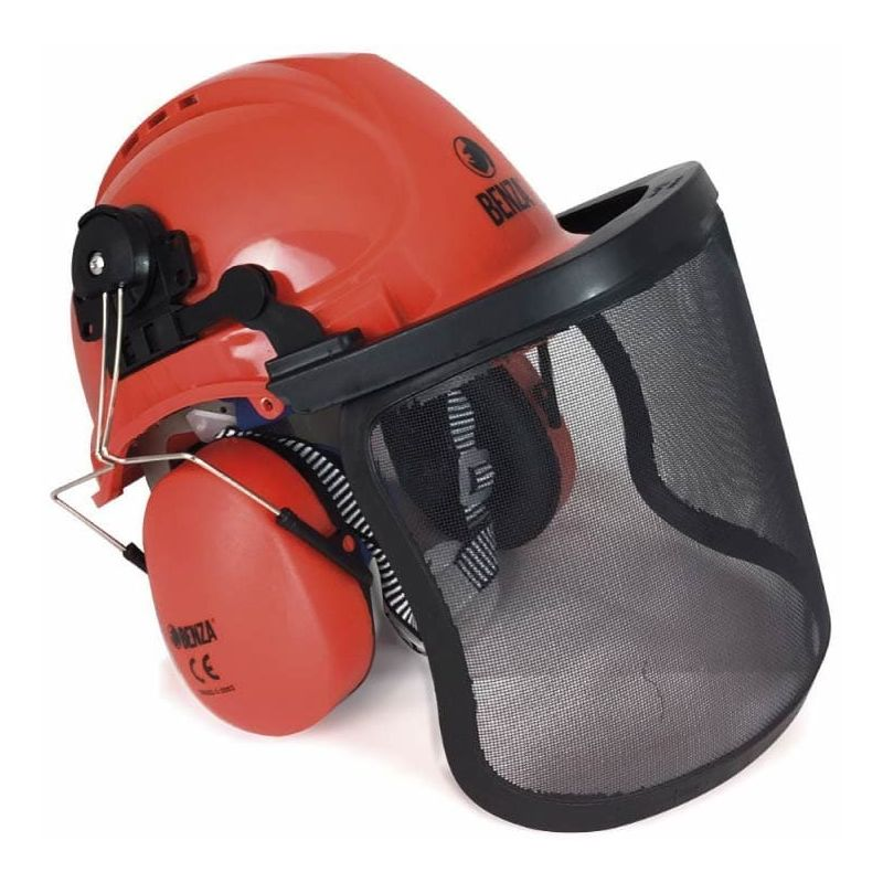 Profi casco de seguridad con protección facial protector casco forestal protección casco casco blanco