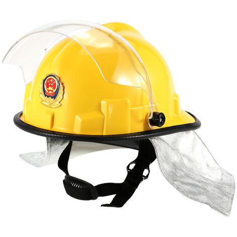 Casco de seguridad para bombero a prueba de fuego, con gafas