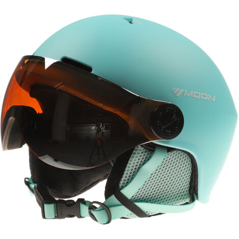 Casco de snowboard con orejeras, casco de esqui de seguridad para hombres y mujeres, casco de esqui profesional para deportes de nieve