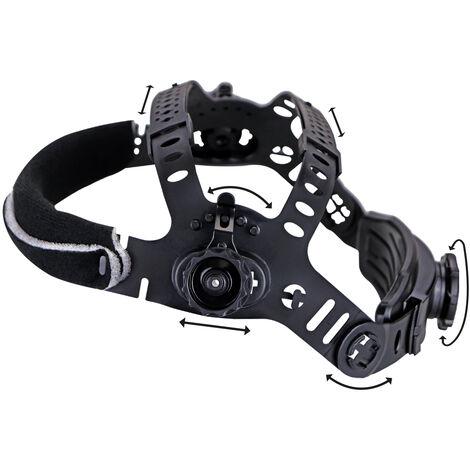 Casco de soldador STAHLWERK ST-450RC careta de soldadura totalmente automática, ajustable, incluye 5 lentes de repuesto, 7 años de garantía* en el filtro