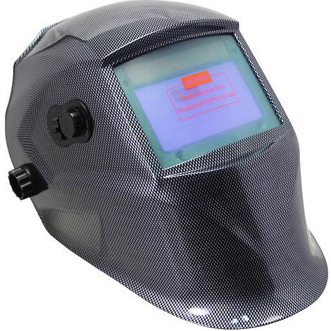 Casco de soldadura automático + 10 lentes de repuesto Máscara de soldadura de carbono Protector de soldadura solar pantalla de soldadura