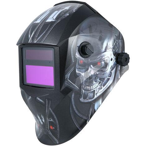 Casco de soldadura, Casco protector de oscurecimiento automatico con energia solar, Escudo de mascara de soldadura