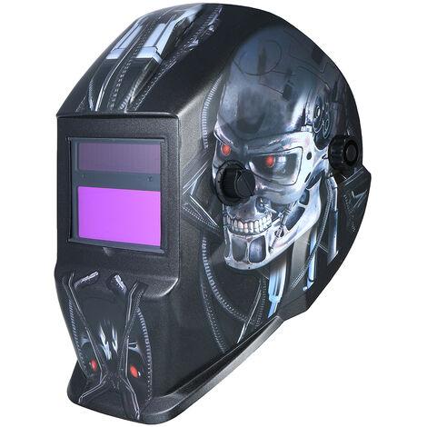 Casco de soldadura con energia solar oscurecimiento automatico de soldadura mascara protectora Casco Escudo con sombra variable Modo Grind