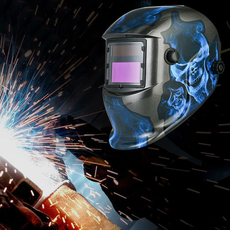 Casco de soldadura de oscurecimiento automatico solar,azul