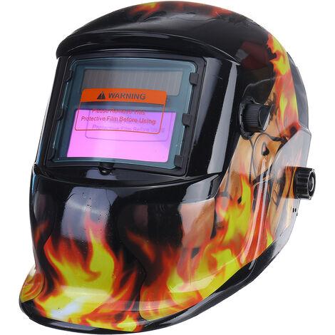Casco de soldadura industrial con energía solar, máscara de oscurecimiento automático, máscara de soldadura de molienda TIG MIG, perilla ajustable de molienda