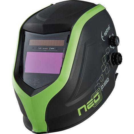 Casco de soldadura neo P550 verde OPTREL