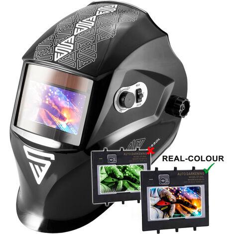 Casco de soldadura STAHLWERK ST-550L Máscara de soldadura totalmente automática, incluye 5 lentes de recambio, 7 años de garantía* en el filtro