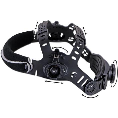 Casco de soldadura STAHLWERK ST-900X Máscara de soldadura totalmente automática, incluye 5 lentes de recambio, 7 años de garantía* en el filtro