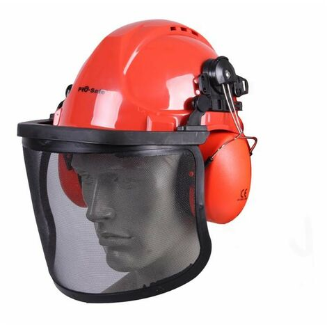 Casco protector profesional con visera y auriculares