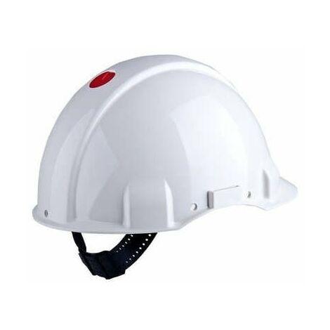 Casco S/ventilación DIELÉCTRICO 1000V arnés ruleta y banda sudor piel