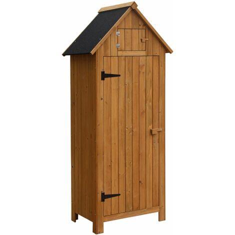 Caseta armario kylie de madera para exterior 77 x 54 3 x 179 cm knh1100 gardiun 8436038132727 - Armario de madera para exterior ...
