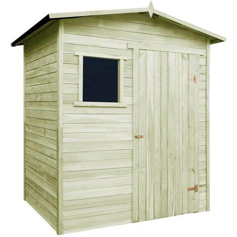 Caseta cabana de jardin de madera de pino impregnada 1,5x2 m