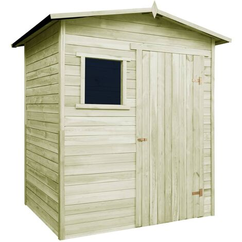 Caseta cabaña de jardín de madera de pino impregnada 1,5x2 m - Multicolor
