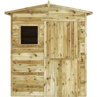 Caseta cabaña de jardín madera de pino impregnada FSC 1,5x2 m
