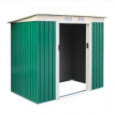 Caseta Cobertizo Metal Jardin Room Verde Catral Con Puerta Grande