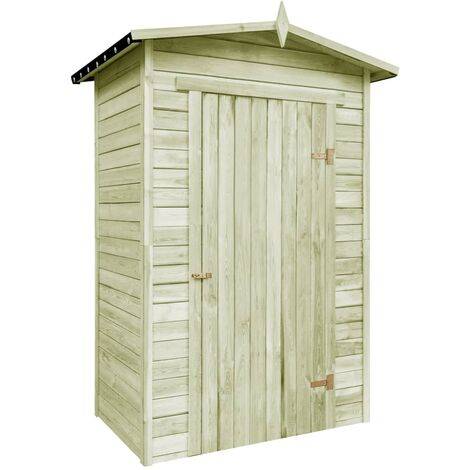 Caseta de almacenaje de jardín de madera de pino impregnada
