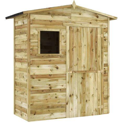 Caseta de almacenaje de jardín madera de pino