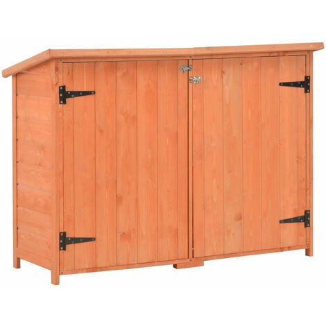 Caseta de almacenamiento de jardin de madera 120x50x91 cm