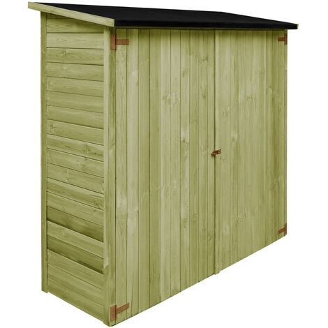 Caseta de herramientas de jardín madera de pino 182x76x175 cm