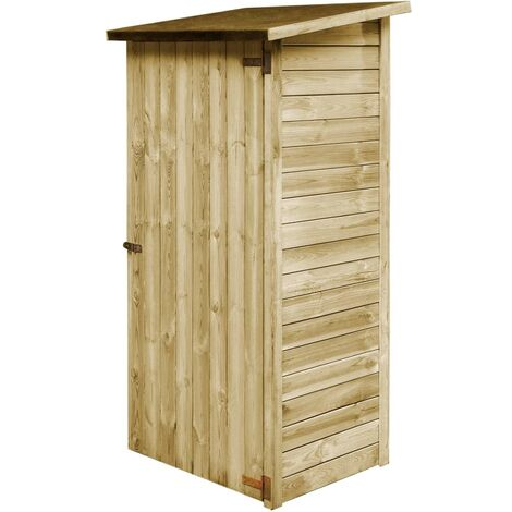 Caseta de herramientas de jardín madera de pino 88x76x175 cm
