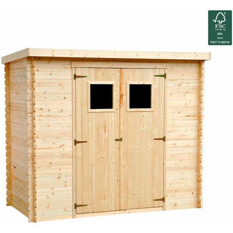 Caseta de jardin de madera natural