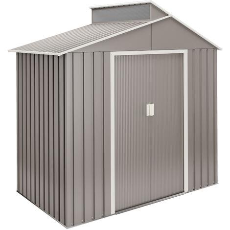 Caseta de jardín de metal premium - 10 años de garantía