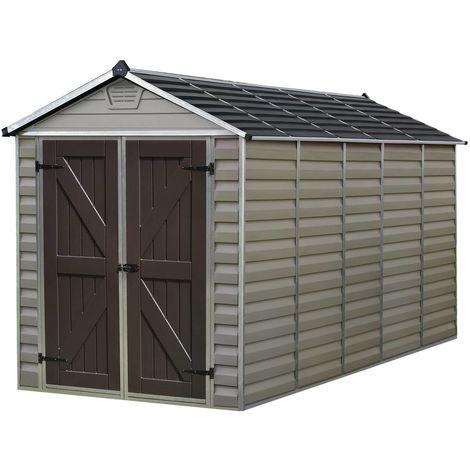 Caseta de jardín en policarbonato Skylight 2.8m² - Marrón