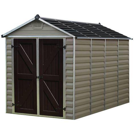 Caseta de jardín en policarbonato Skylight 4.25 m² - Marrón