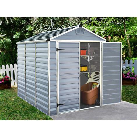 Caseta de jardin policarbonato Skylight - 4.25 m² - Gris