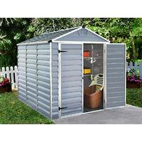Caseta de jardín policarbonato Skylight - 4.25 m² - Gris