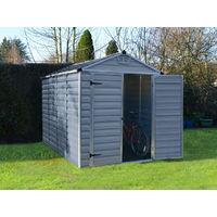 Caseta de jardín policarbonato Skylight - 5.6 m² - Gris