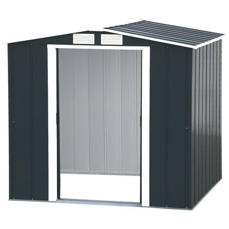 Caseta de jardín Riverton 6x6 incluye Kit de extensión + Kit de suelo + Extensión de suelo. Medidas: Fondo 1.831 mm. x Ancho 2.015 mm. x Alto 1.895 mm.