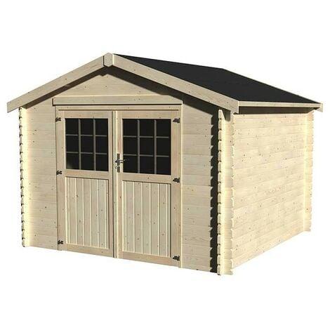 Caseta de madera - Barine (34 mm , 300 x 300 cm, 8,88 m²)