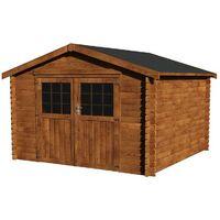 Caseta de madera - Barine Tratada (34 mm , 300 x 300 cm, 8,88 m²)