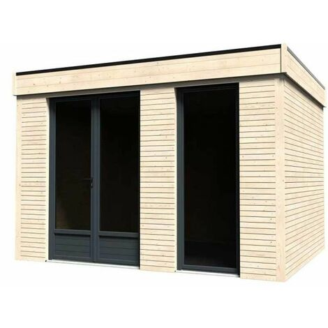 Caseta de Madera Decor Home 9m² (365 x 249 x 299 cm, 10,91 m2) Decord et Jardin