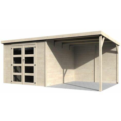 Caseta de Madera Délices (28mm, 585 x 326 cm, 19,11 m2) Decor et Jardin